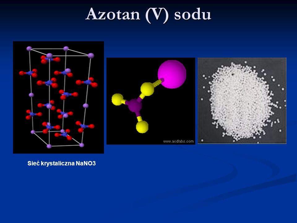 Azotan (V) sodu Sieć krystaliczna NaNO3