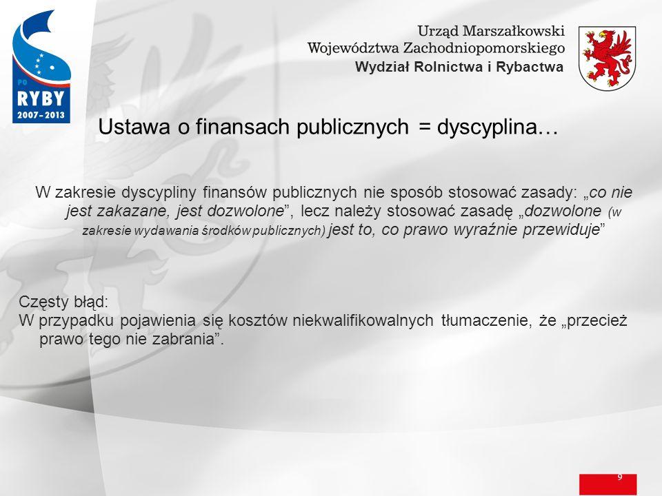Ustawa o finansach publicznych = dyscyplina…