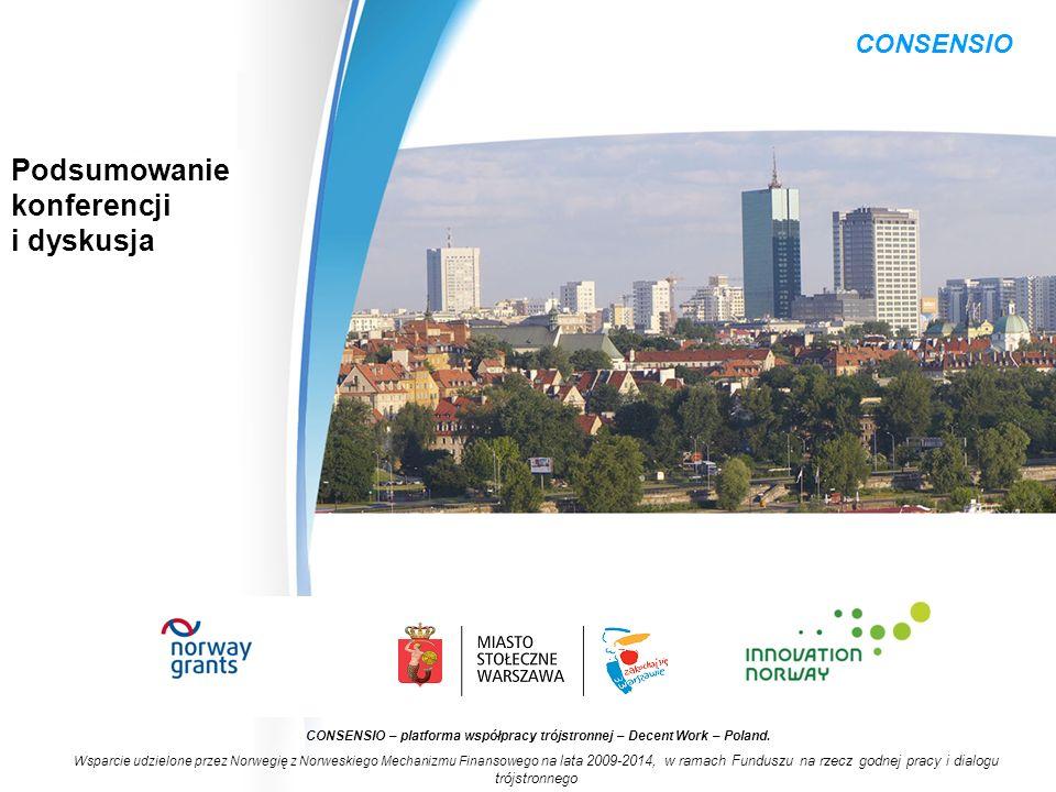 CONSENSIO – platforma współpracy trójstronnej – Decent Work – Poland.