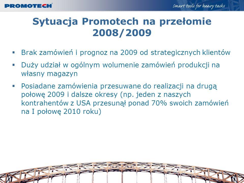 Sytuacja Promotech na przełomie 2008/2009