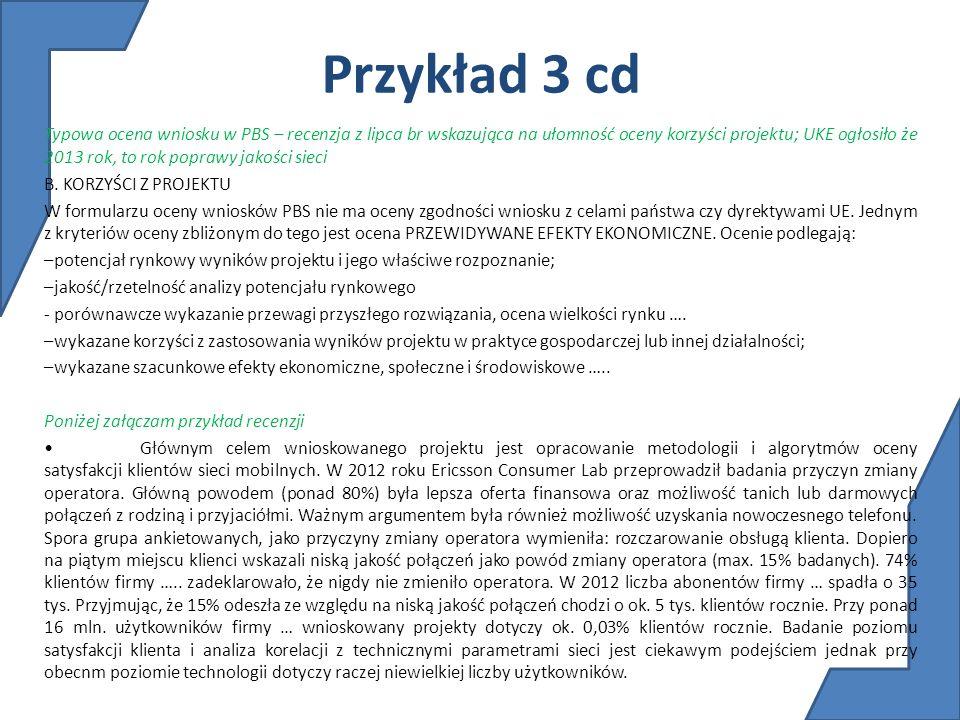 Przykład 3 cd