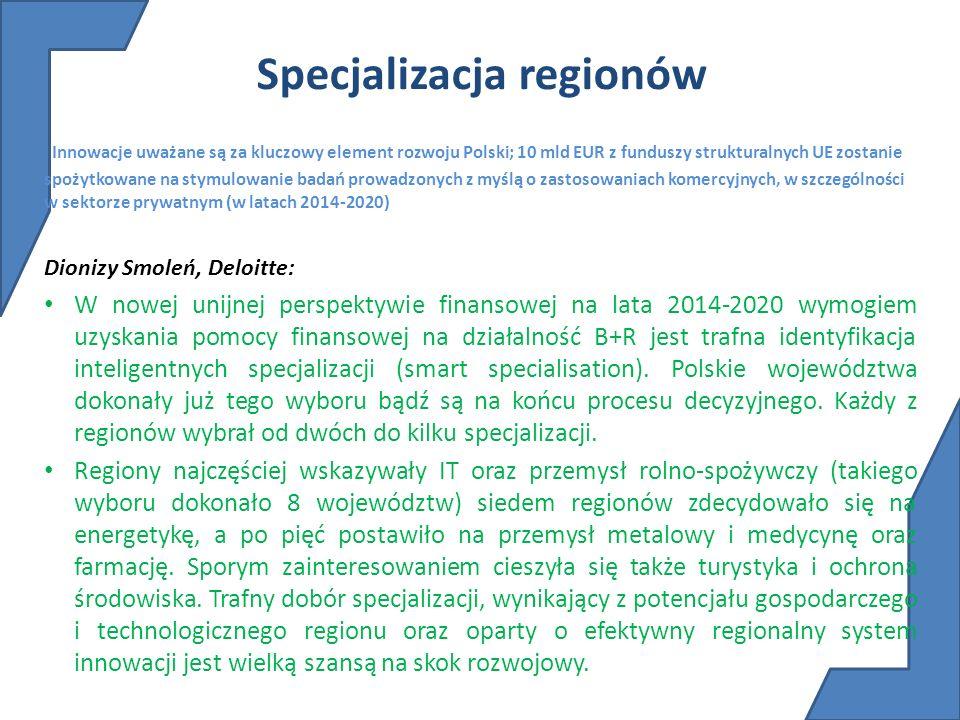 Specjalizacja regionów