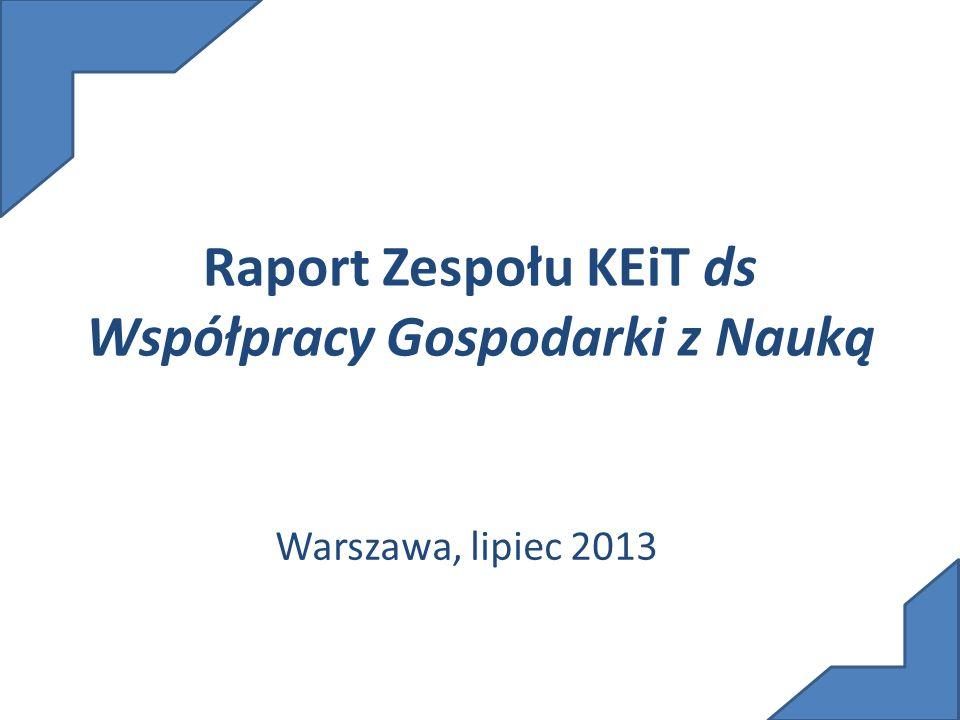 Raport Zespołu KEiT ds Współpracy Gospodarki z Nauką