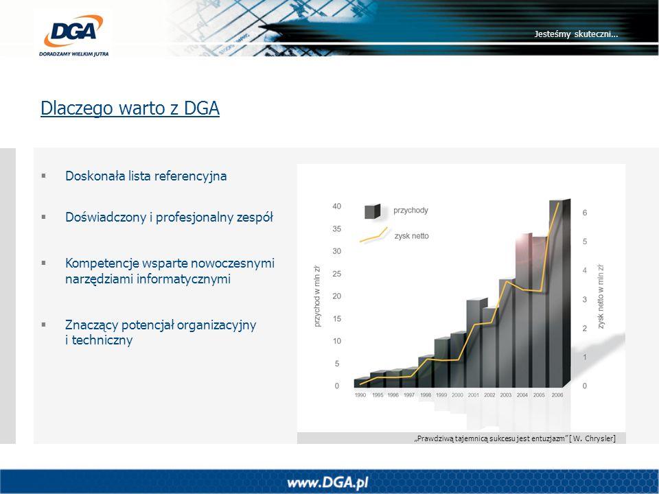 Dlaczego warto z DGA Doskonała lista referencyjna