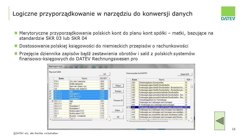 Logiczne przyporządkowanie w narzędziu do konwersji danych