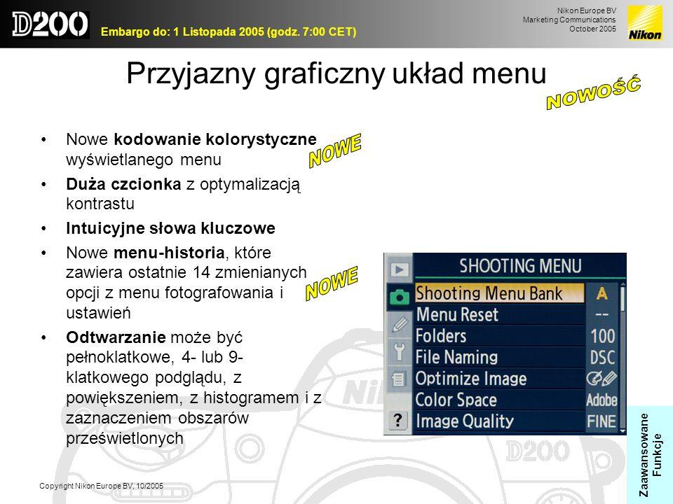 Przyjazny graficzny układ menu