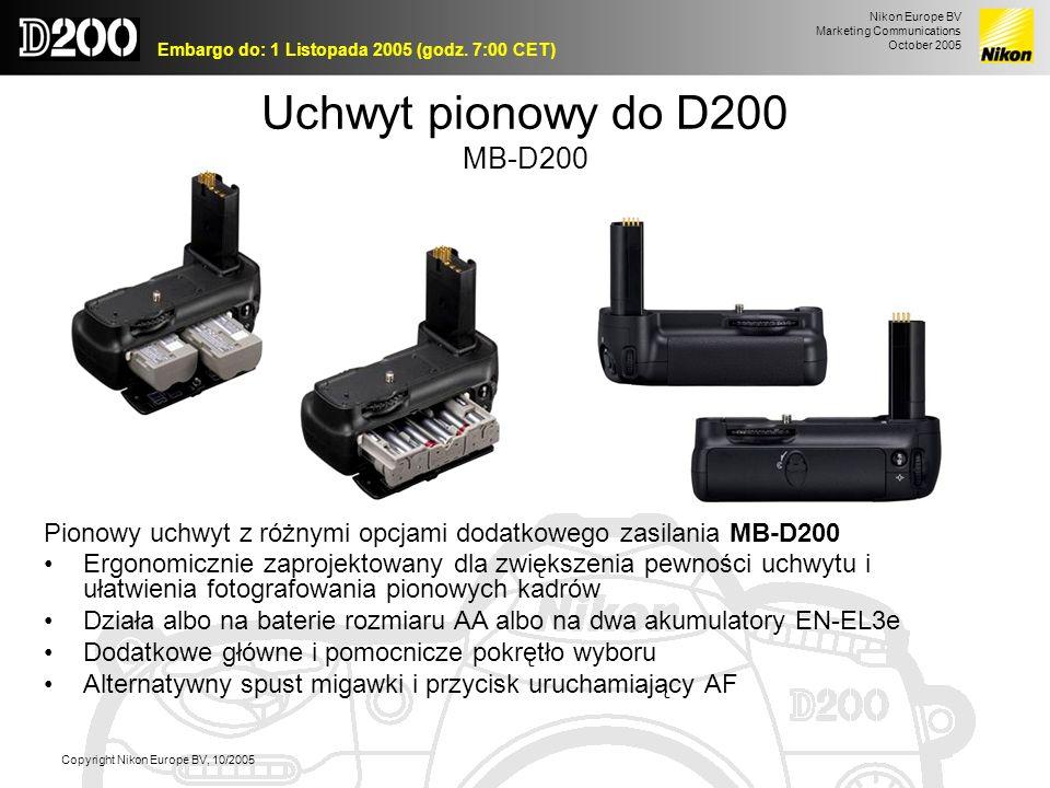 Uchwyt pionowy do D200 MB-D200