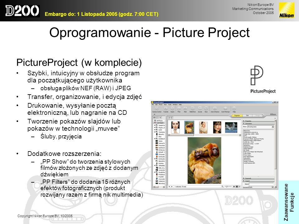 Oprogramowanie - Picture Project