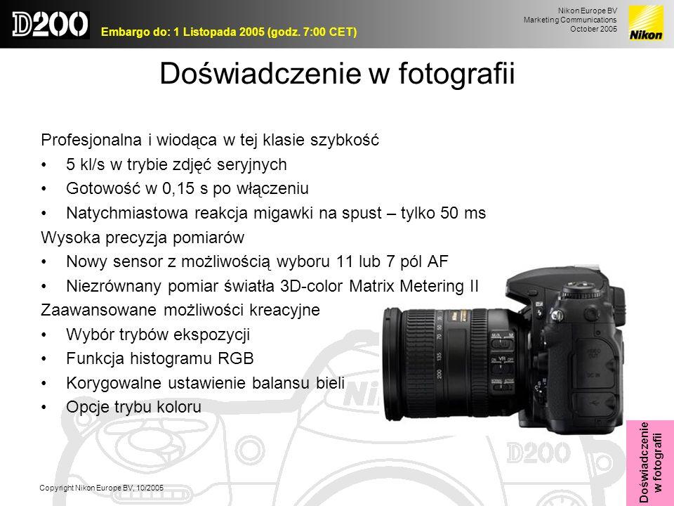 Doświadczenie w fotografii
