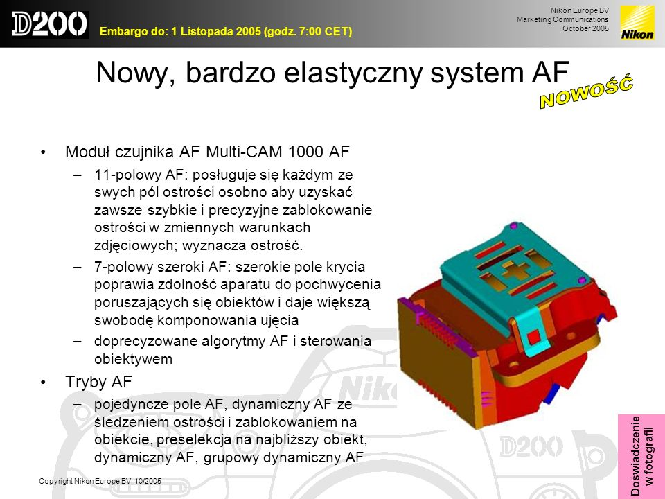Nowy, bardzo elastyczny system AF