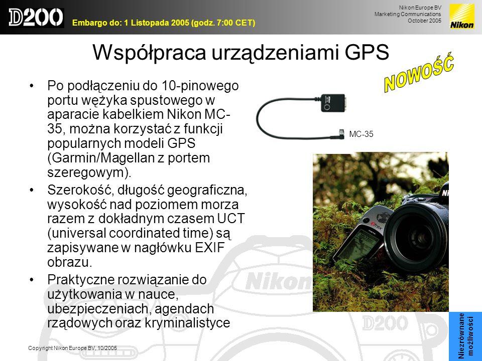 Współpraca urządzeniami GPS