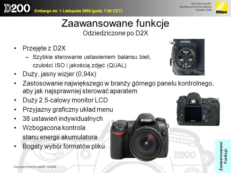 Zaawansowane funkcje Odziedziczone po D2X