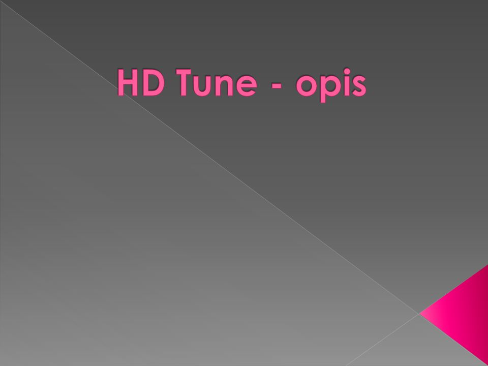HD Tune - opis