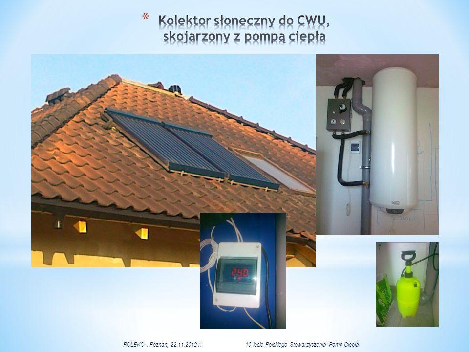 Kolektor słoneczny do CWU, skojarzony z pompą ciepła