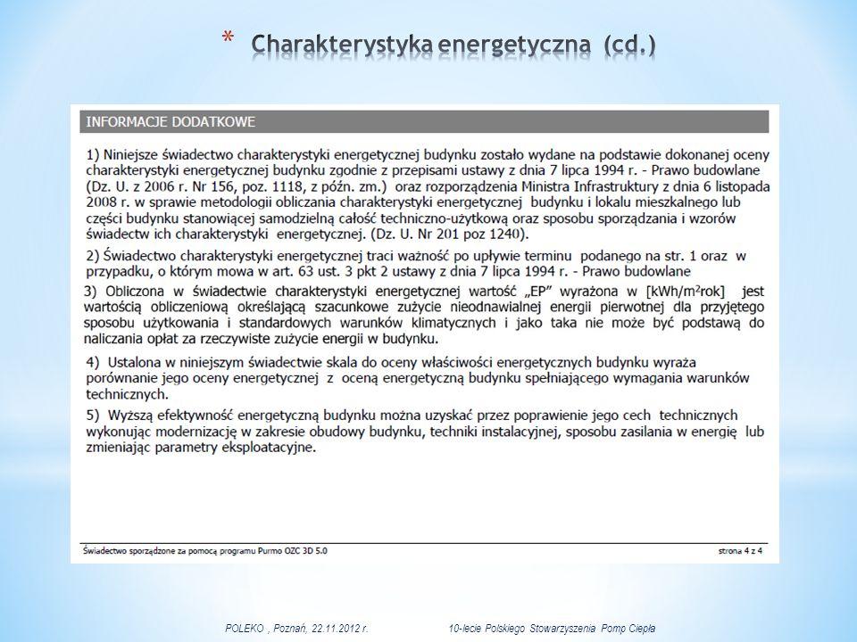 Charakterystyka energetyczna (cd.)