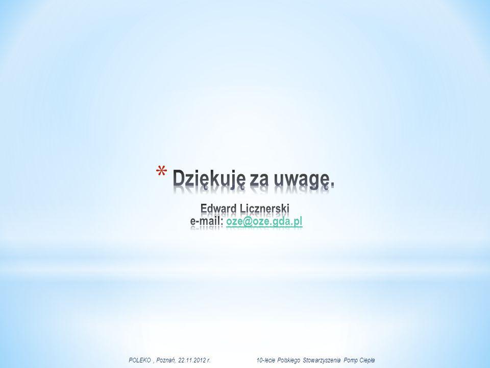 Dziękuję za uwagę. Edward Licznerski e-mail: oze@oze.gda.pl