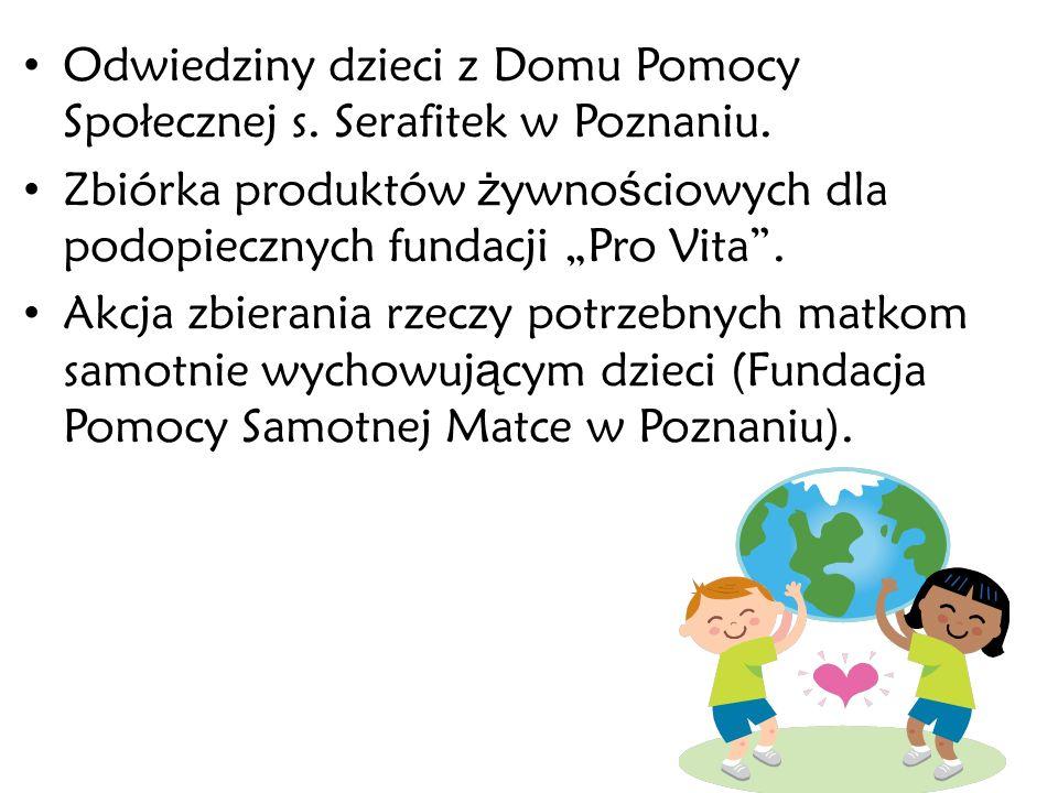 Odwiedziny dzieci z Domu Pomocy Społecznej s. Serafitek w Poznaniu.