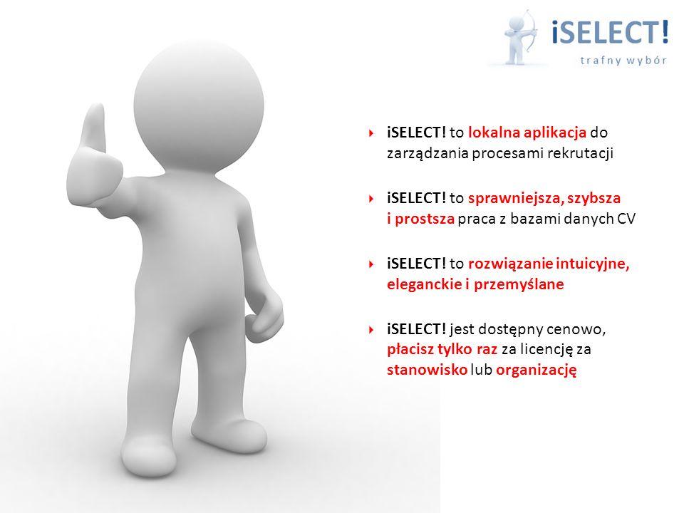 iSELECT! to lokalna aplikacja do zarządzania procesami rekrutacji