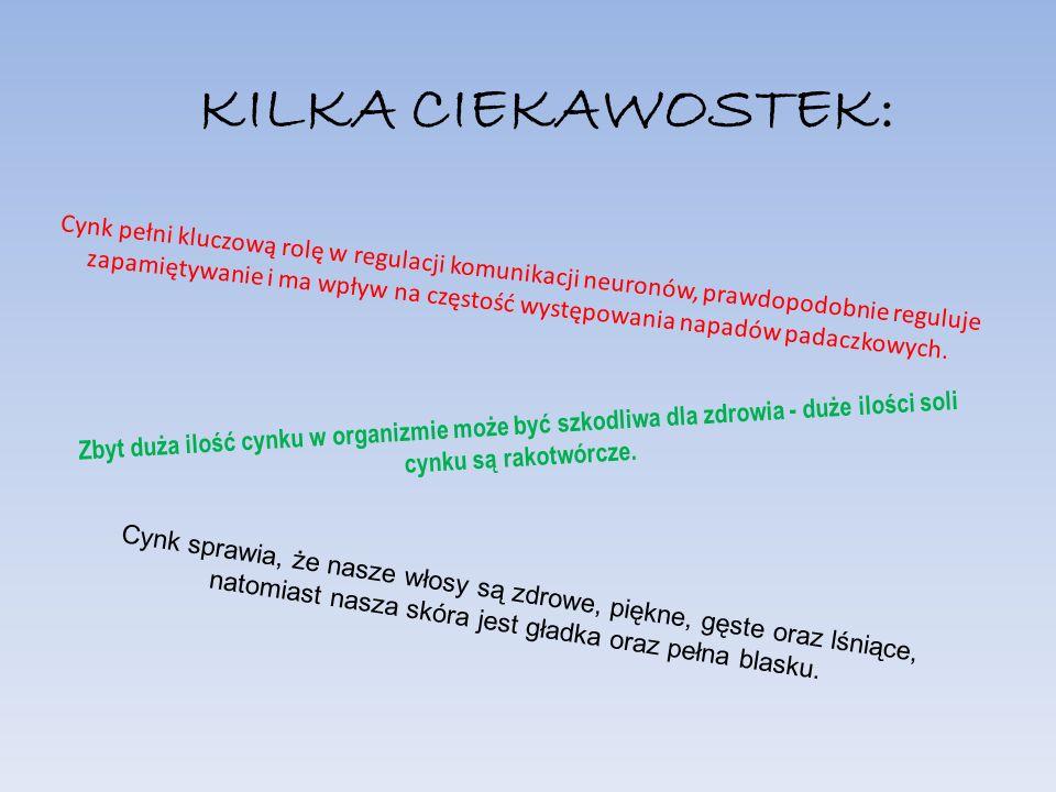 KILKA CIEKAWOSTEK: