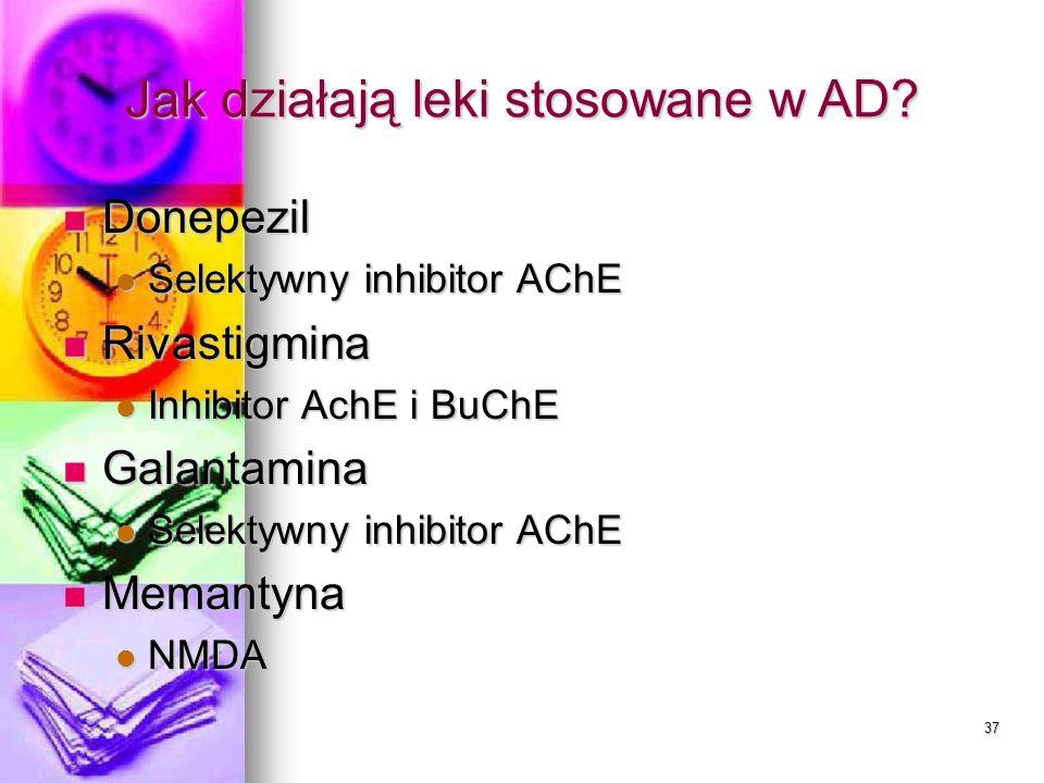 Jak działają leki stosowane w AD