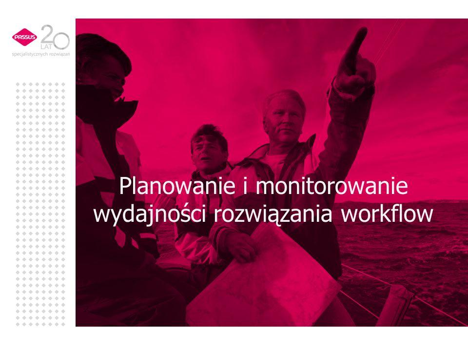Planowanie i monitorowanie wydajności rozwiązania workflow