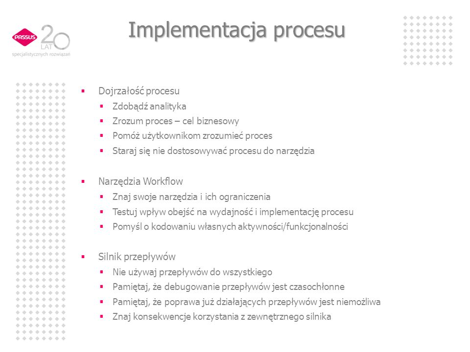 Implementacja procesu