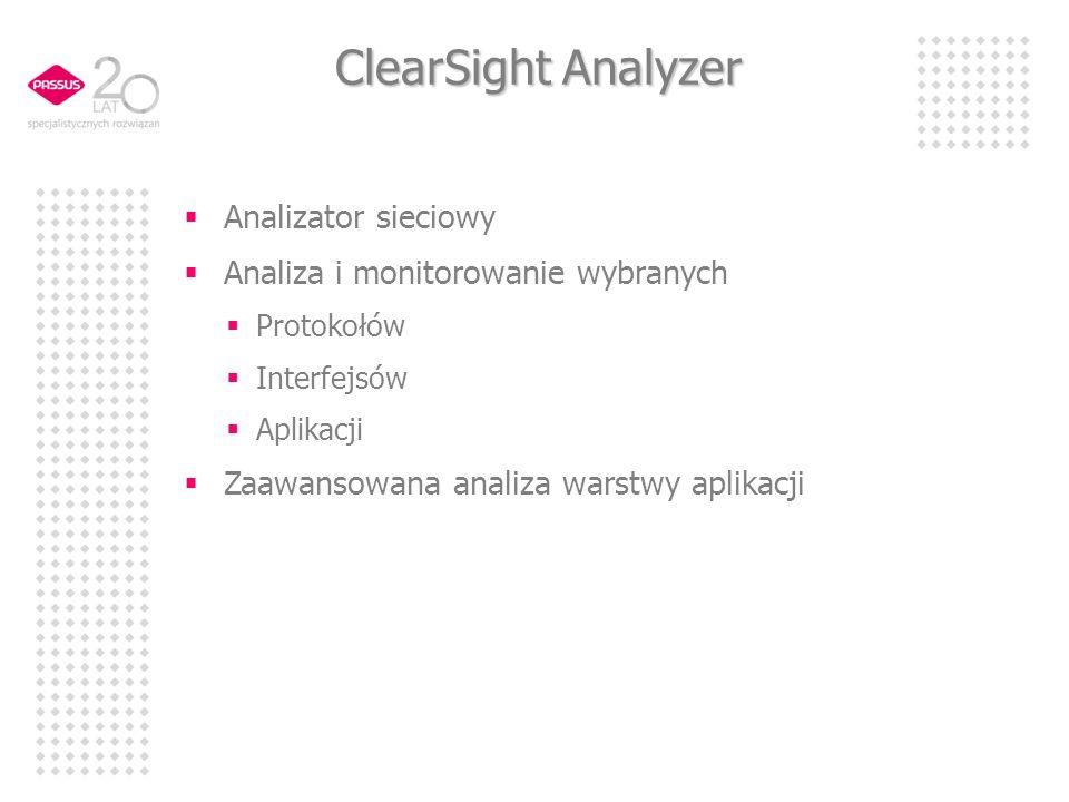 ClearSight Analyzer Analizator sieciowy