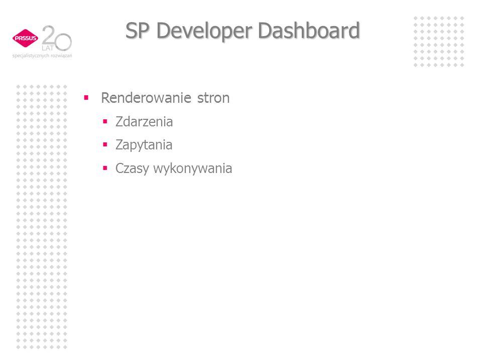 SP Developer Dashboard