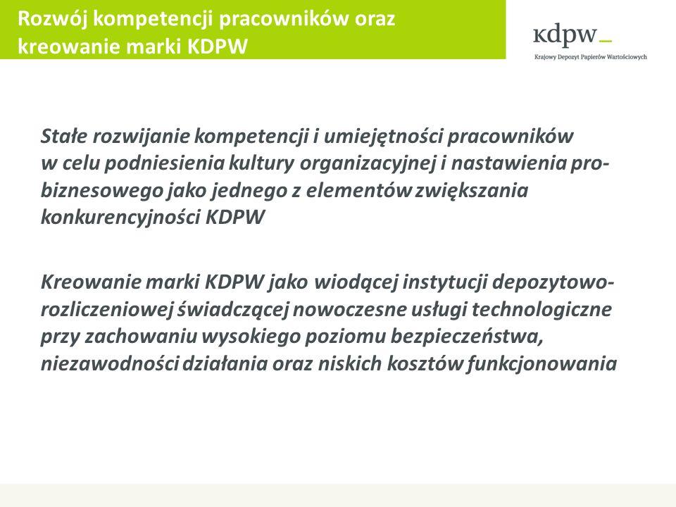 Rozwój kompetencji pracowników oraz kreowanie marki KDPW