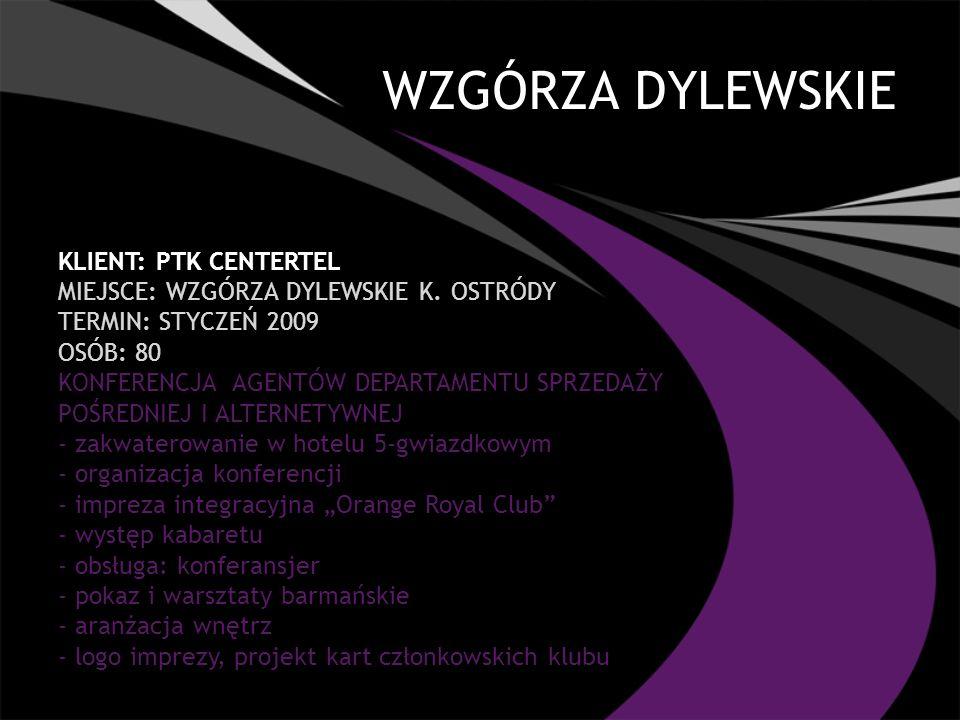 WZGÓRZA DYLEWSKIE Klient: PTK CENTERTEL