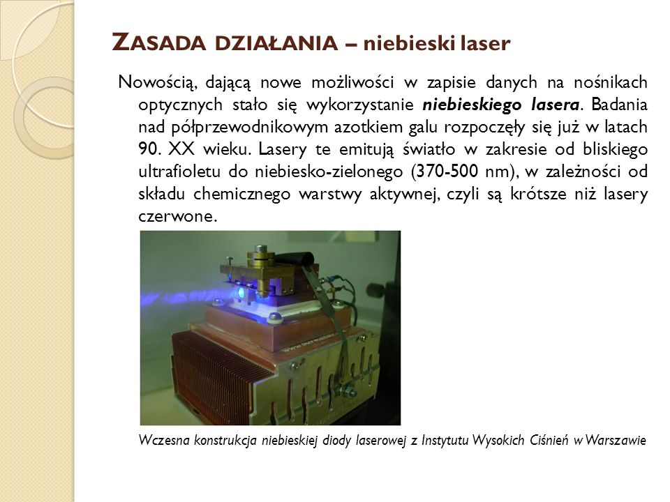 Zasada działania – niebieski laser