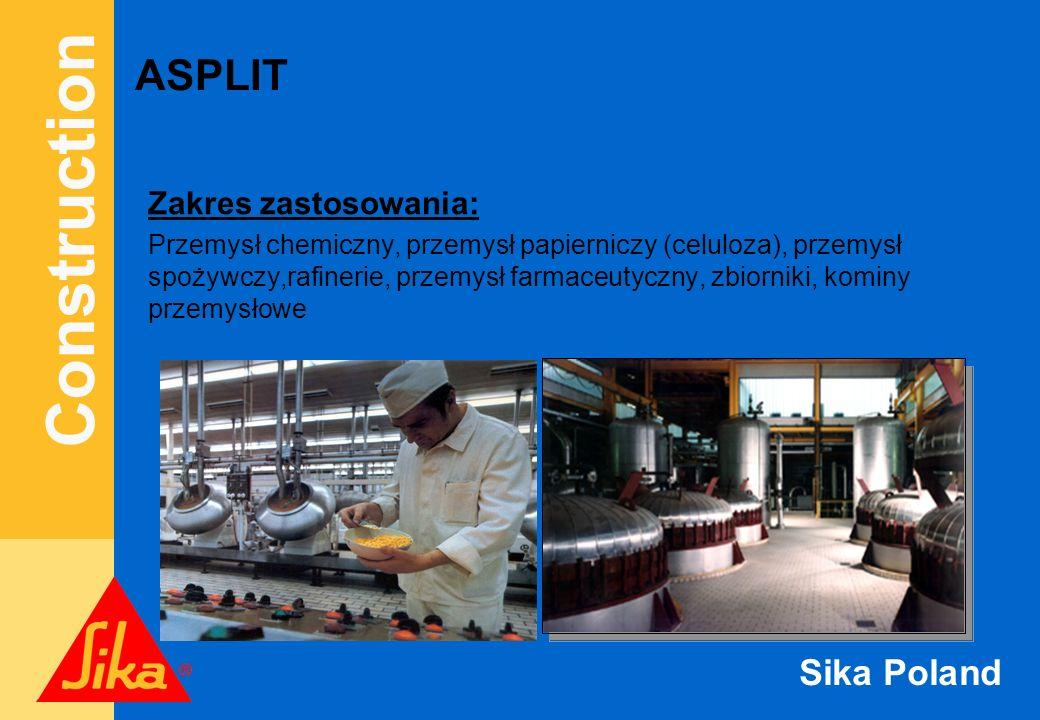 ASPLIT Zakres zastosowania: