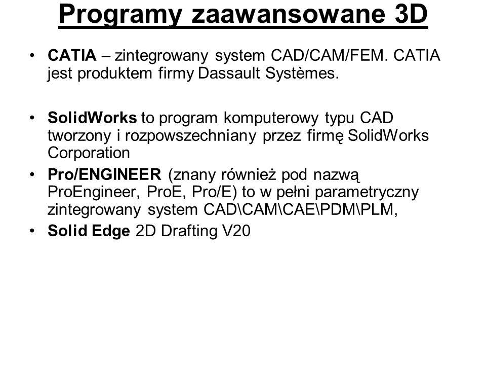 Programy zaawansowane 3D