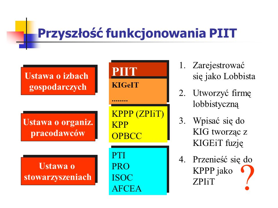 Przyszłość funkcjonowania PIIT