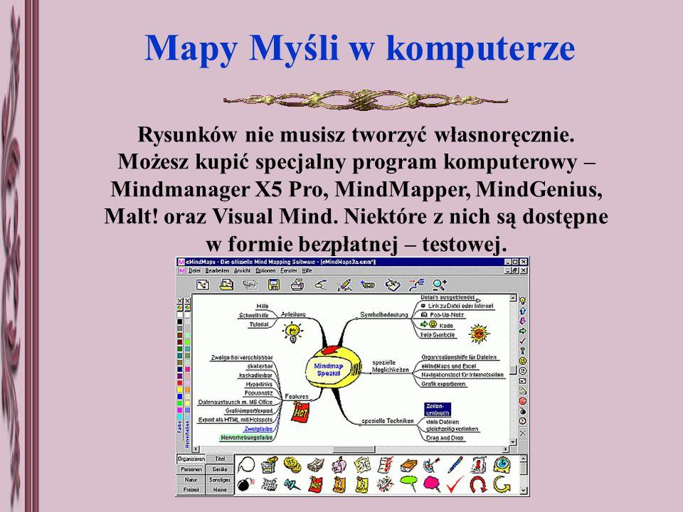 Mapy Myśli w komputerze