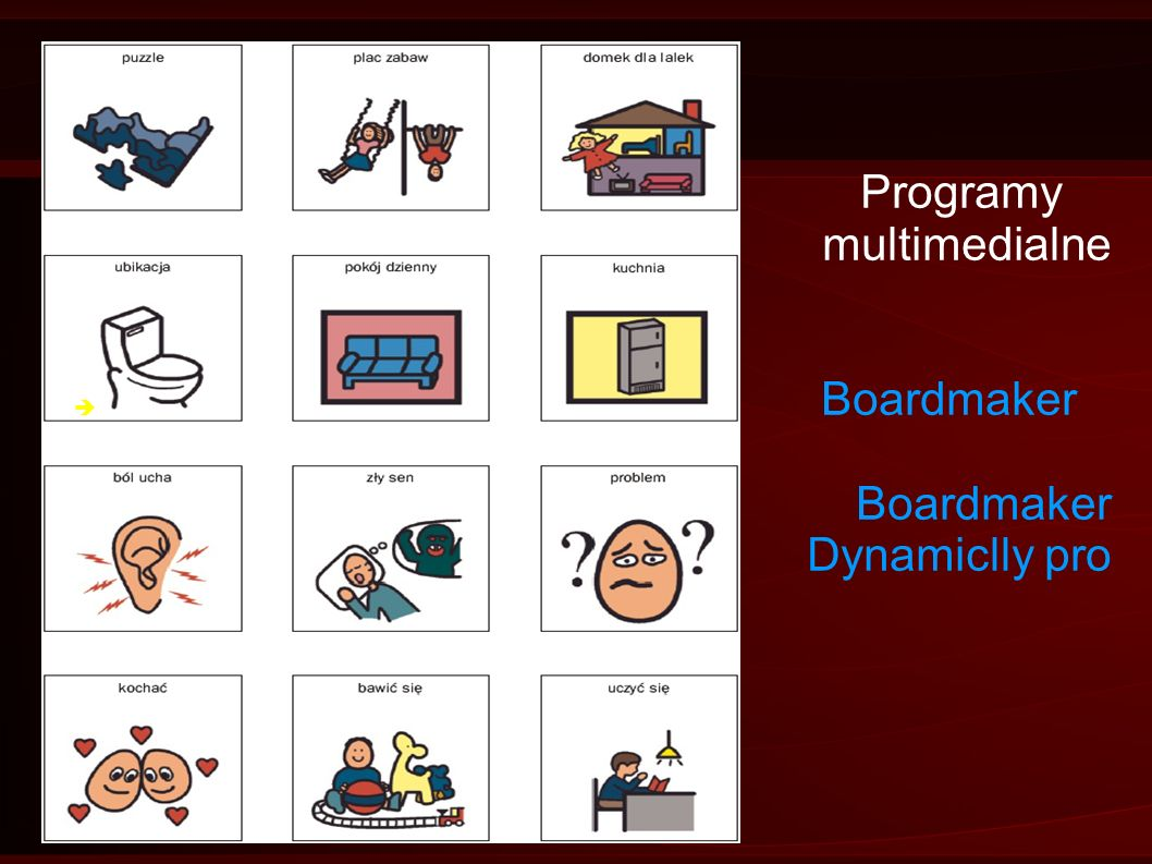 Programy multimedialne. Boardmaker.