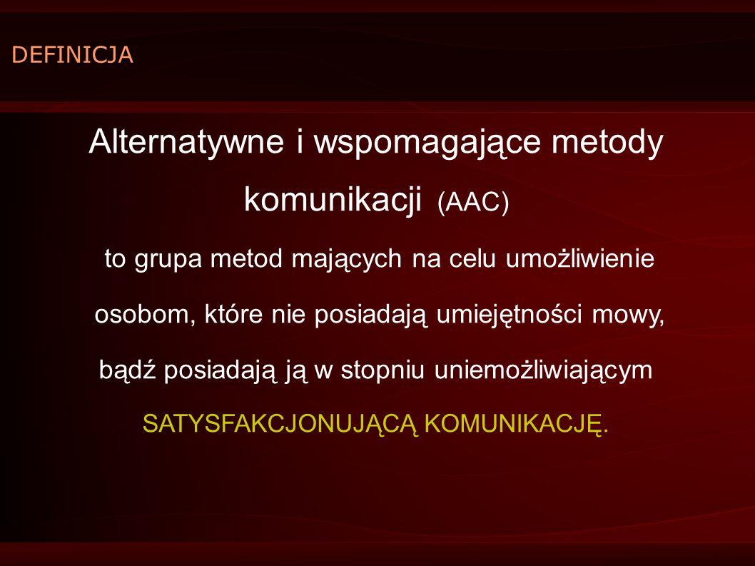 Alternatywne i wspomagające metody komunikacji (AAC)