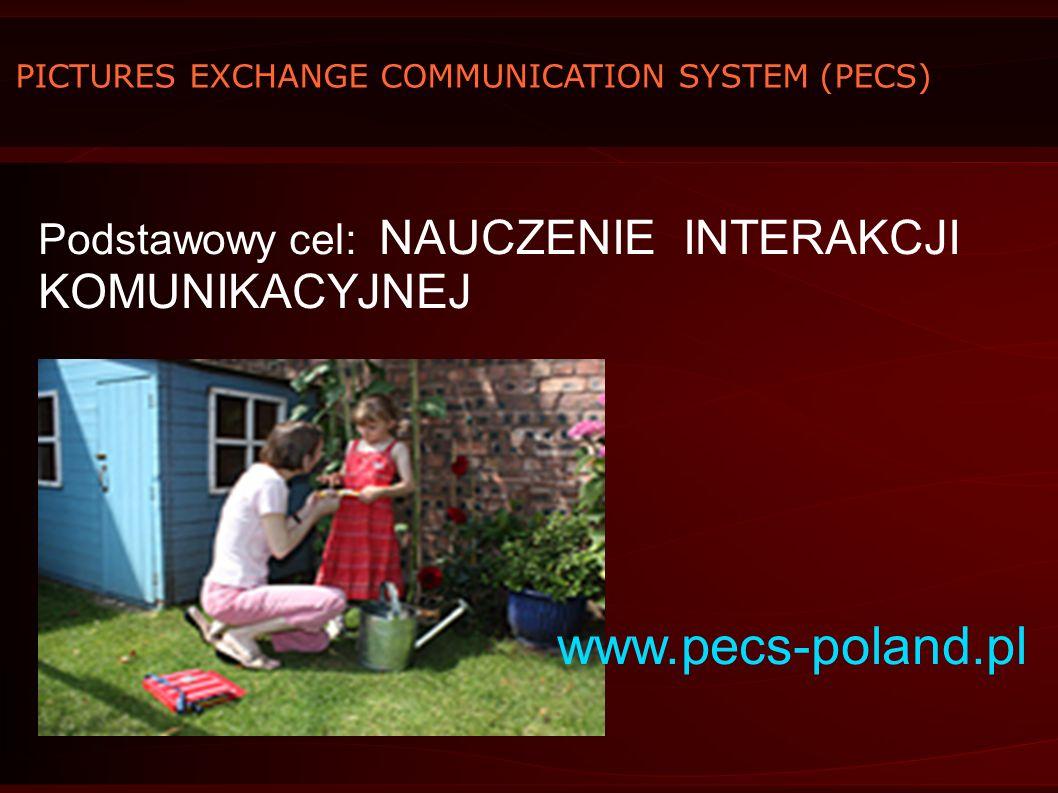www.pecs-poland.pl Podstawowy cel: NAUCZENIE INTERAKCJI KOMUNIKACYJNEJ