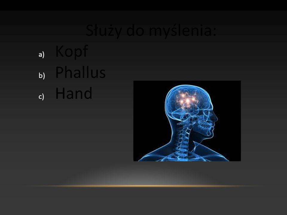 Służy do myślenia: Kopf Phallus Hand