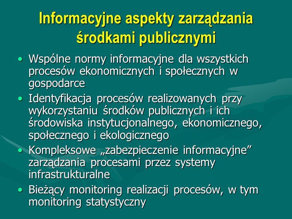 Informacyjne aspekty zarządzania środkami publicznymi