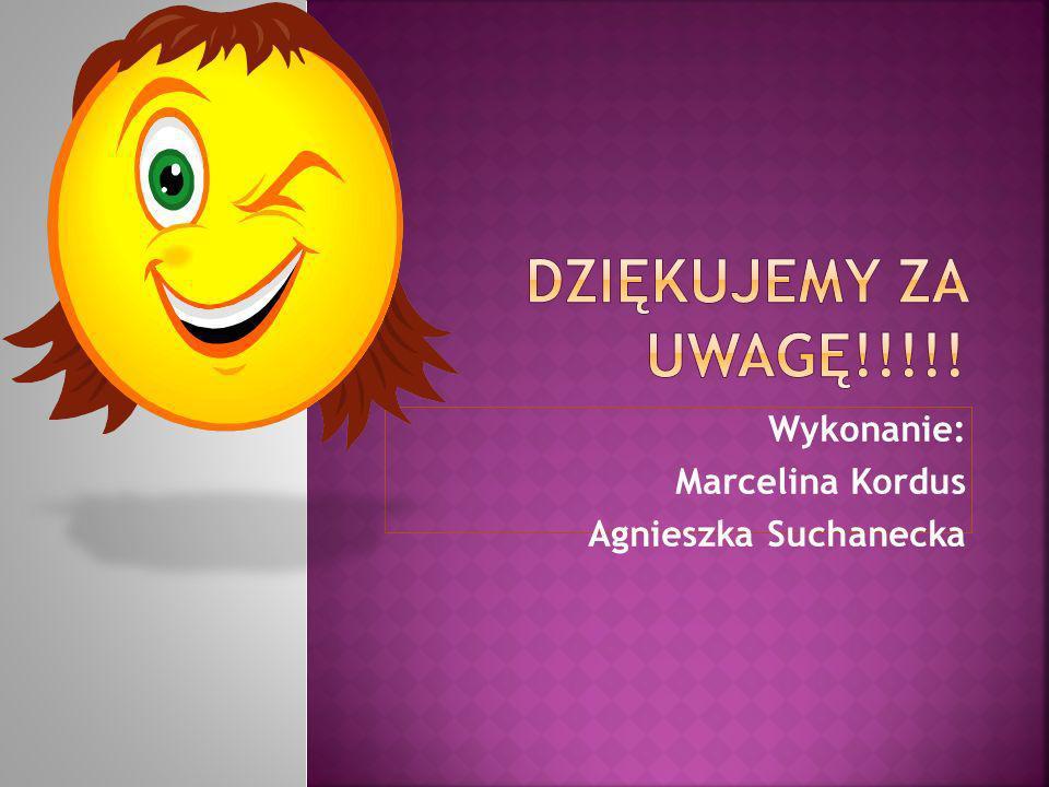 Wykonanie: Marcelina Kordus Agnieszka Suchanecka