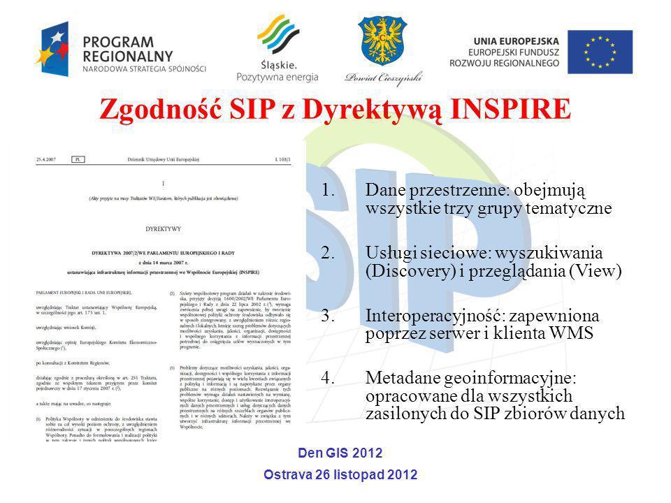 Zgodność SIP z Dyrektywą INSPIRE