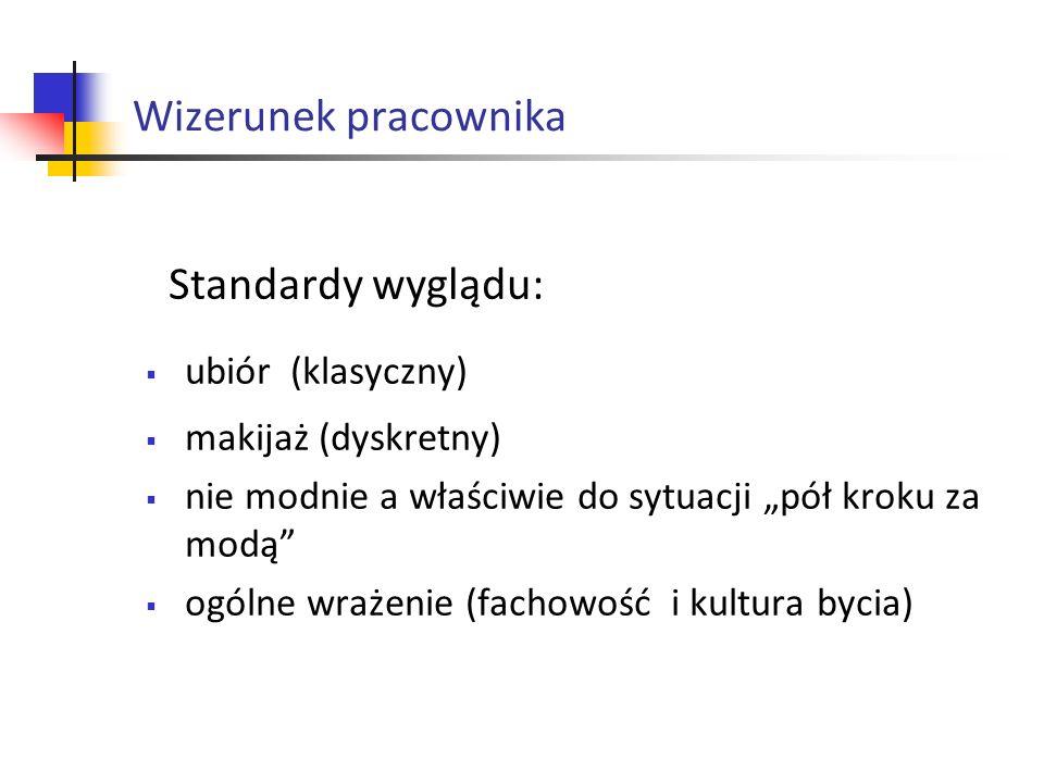 Wizerunek pracownika Standardy wyglądu: ubiór (klasyczny)