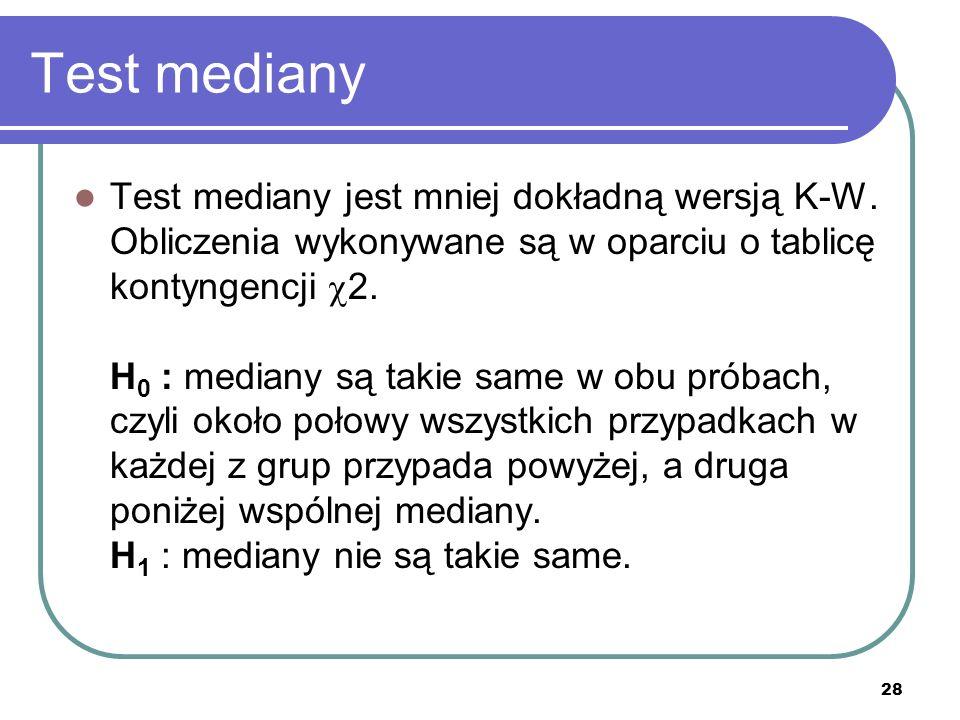 Test mediany
