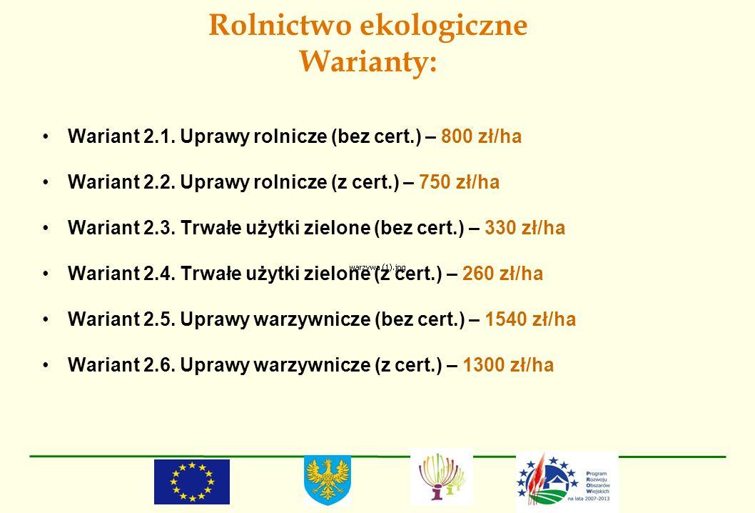 Rolnictwo ekologiczne Warianty: