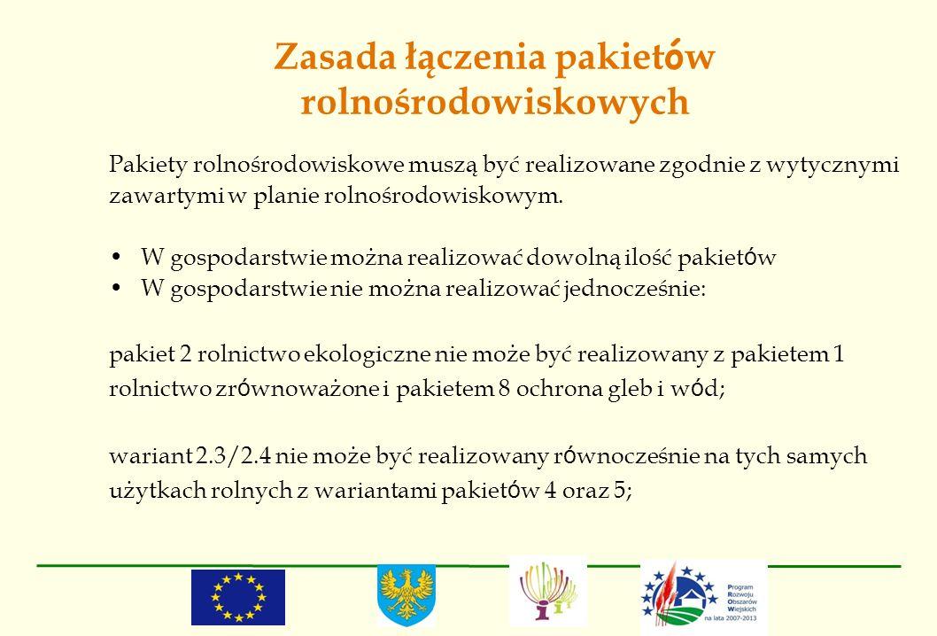 Zasada łączenia pakietów rolnośrodowiskowych