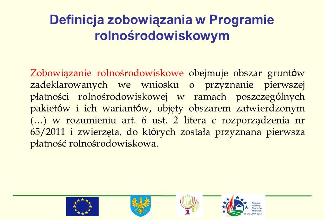 Definicja zobowiązania w Programie rolnośrodowiskowym
