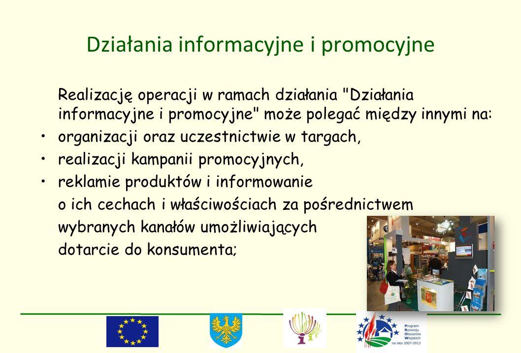 Działania informacyjne i promocyjne