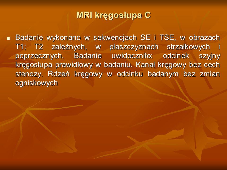 MRI kręgosłupa C