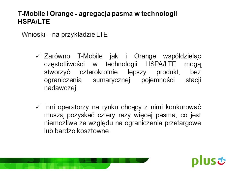 T-Mobile i Orange - agregacja pasma w technologii HSPA/LTE